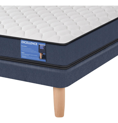 cama europea excellence 1.5 plaza cic