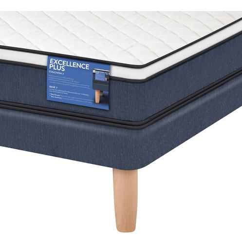 cama europea excellence plus 2 plazas base normal - cic