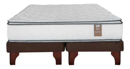 cama europea flex chocolate innova 2.0 plazas b/d