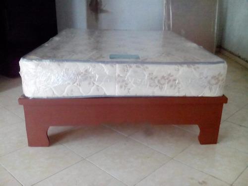 cama full 54 nueva color caoba