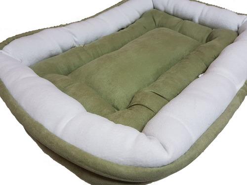 cama gato pistache mediana suave 72x50x11cm económica