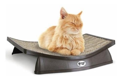 cama gato rascador  lazy lounger omega paw ergonomica diseño