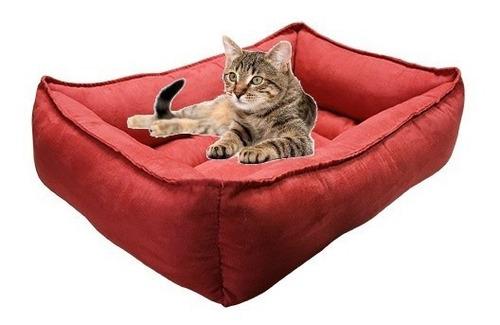 cama gato roja mediana suave 60x40x22cm económica