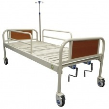 cama hospitalaria basica con frenos y barandal-- con colchon