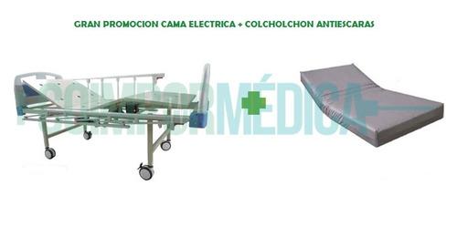 cama hospitalaria eléctrica de 4 planos+ colchón ort + atril