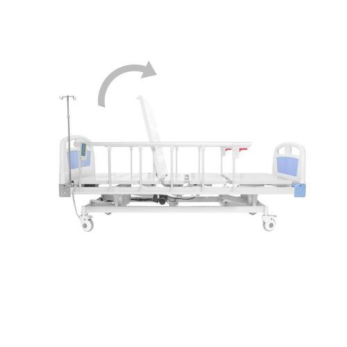 cama hospitalaria electrica de aluminio con ruedas - medical