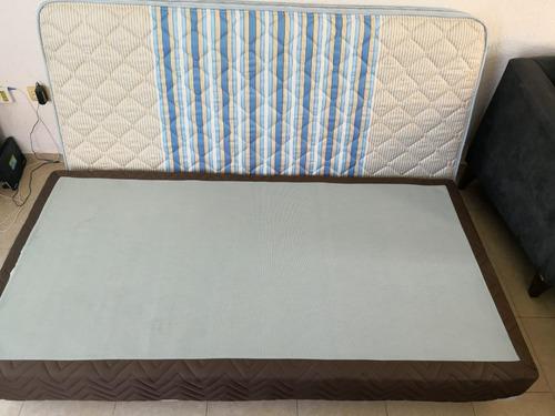 cama individual con base sin usar en playa del carmen