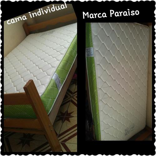 cama individual con colchon