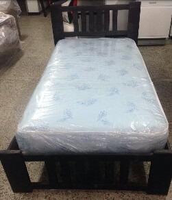 cama individual garci 100% madera de pino nueva