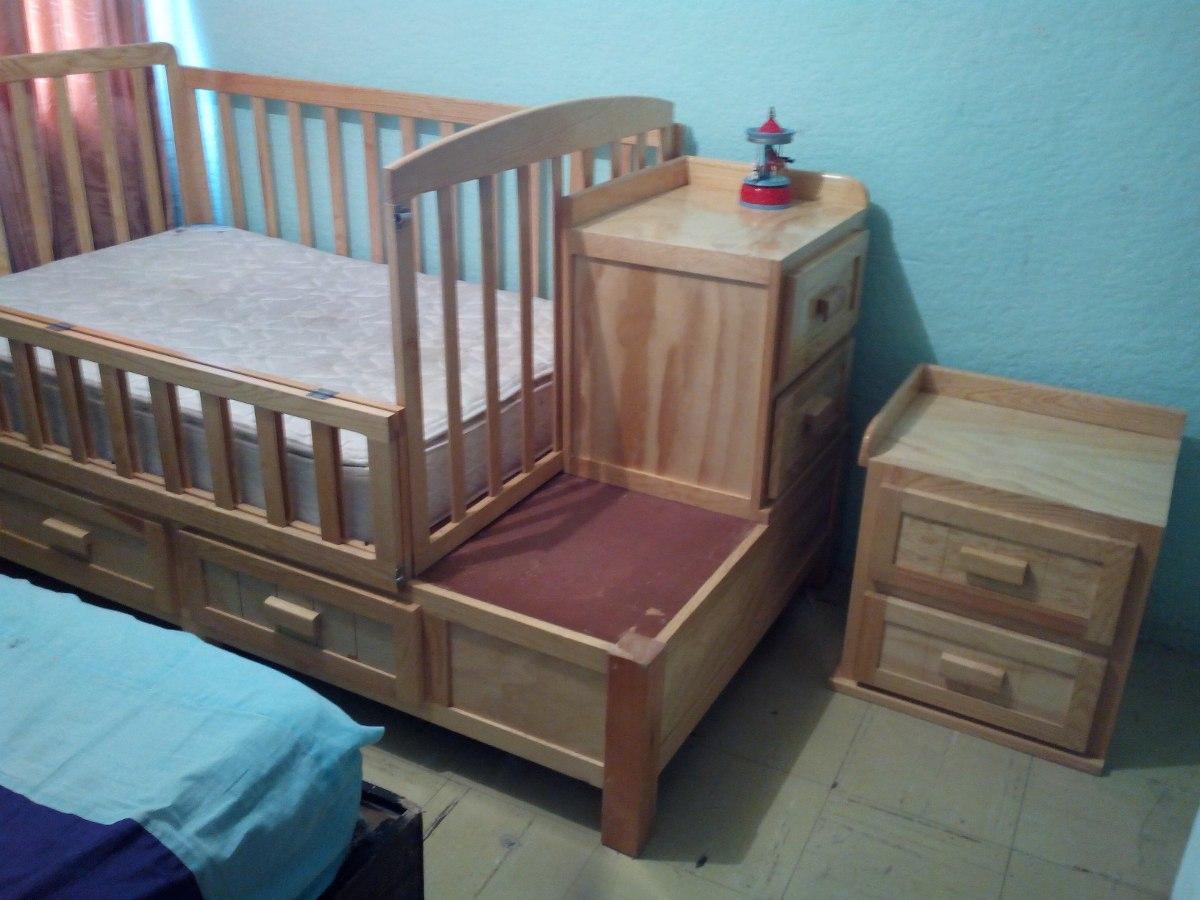 Cama individual y cuna con colchon 3 en mercado - Cunas que se convierten en camas ...
