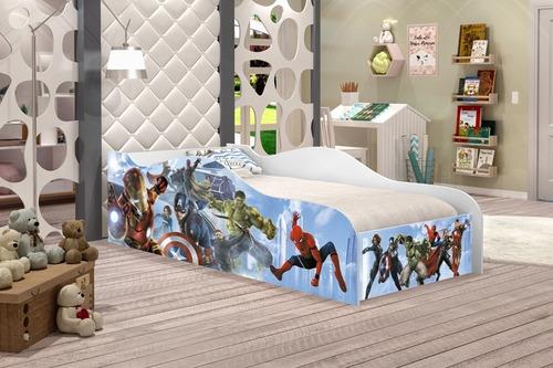 cama infantil avengers, cama para menino, moveis infantis
