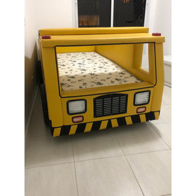 Cama Infantil Basculante Cama Carro Amarelo Com Colchão
