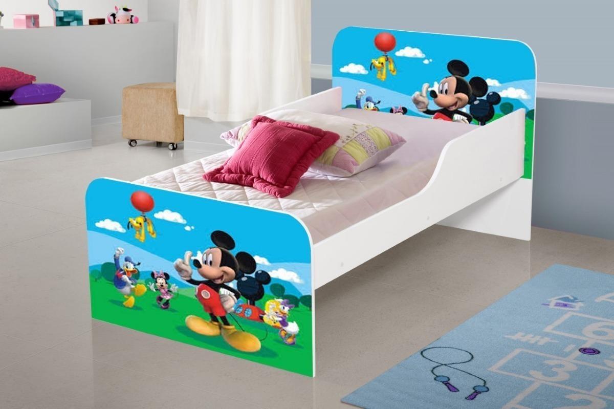 dd5c74cfad cama infantil c  barra para proteção personagem mickey. Carregando zoom.