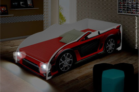 9d3c47a285 Cama Infantil Carro Sport Com Led E Com Colchão - Vermelho