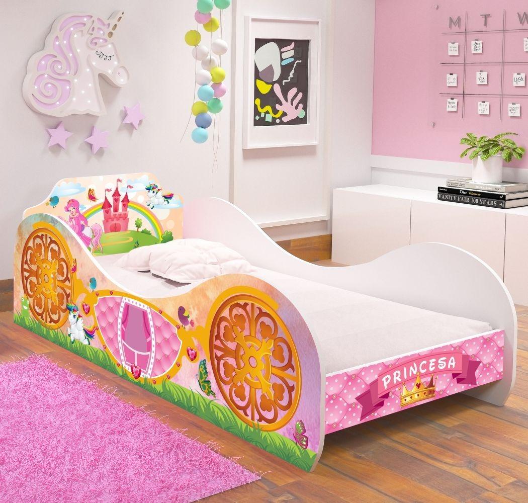 Cama infantil carruagem princesa encantada 100 mdf - Camas infantiles de princesas ...