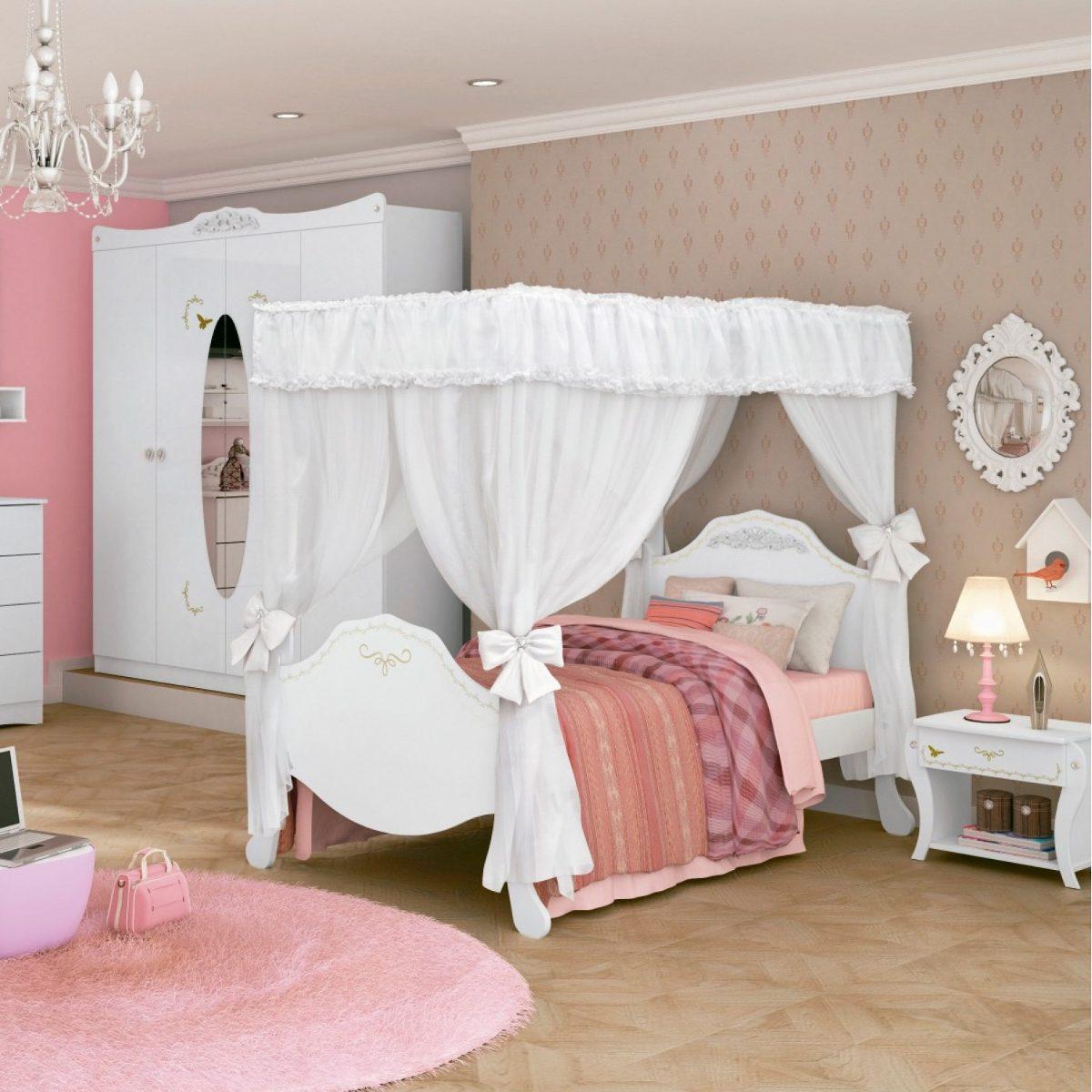 5d8d832c85 cama infantil com dossel provençal clean pura magia wt wt. Carregando zoom.