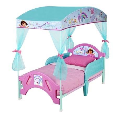 cama infantil con toldo dora la exploradora
