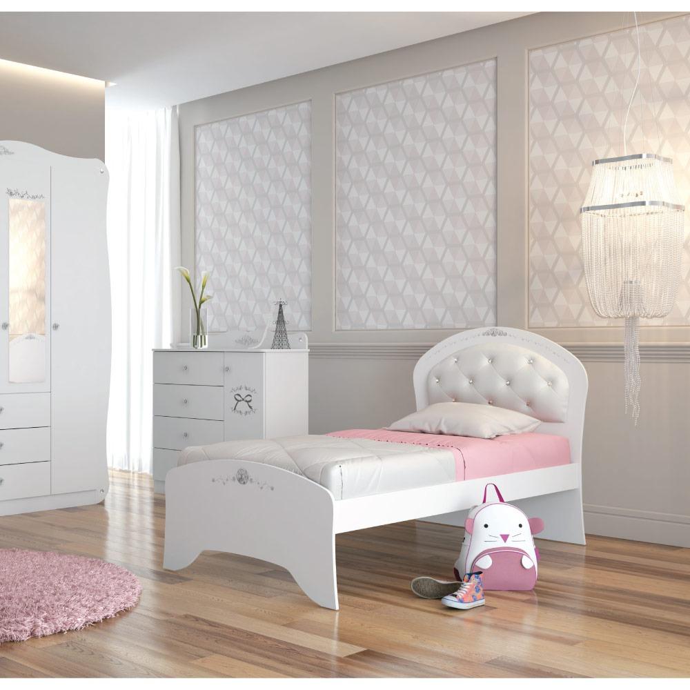 568f764599 cama infantil cristal com cabeceira estofada - pura magia. Carregando zoom.