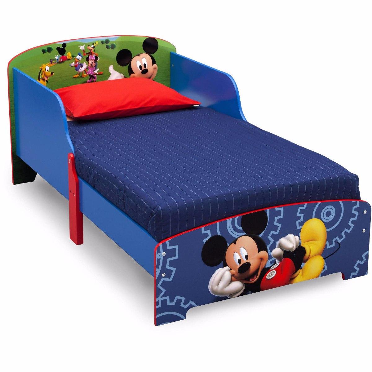Cama Infantil De Madera De Lujo Mickey Mouse 2 900 00