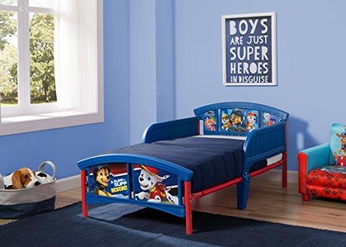cama infantil de plástico para niños delta, nick jr. paw pat