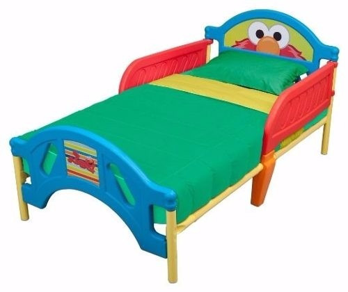 cama infantil elmo plaza sesamo marca delta