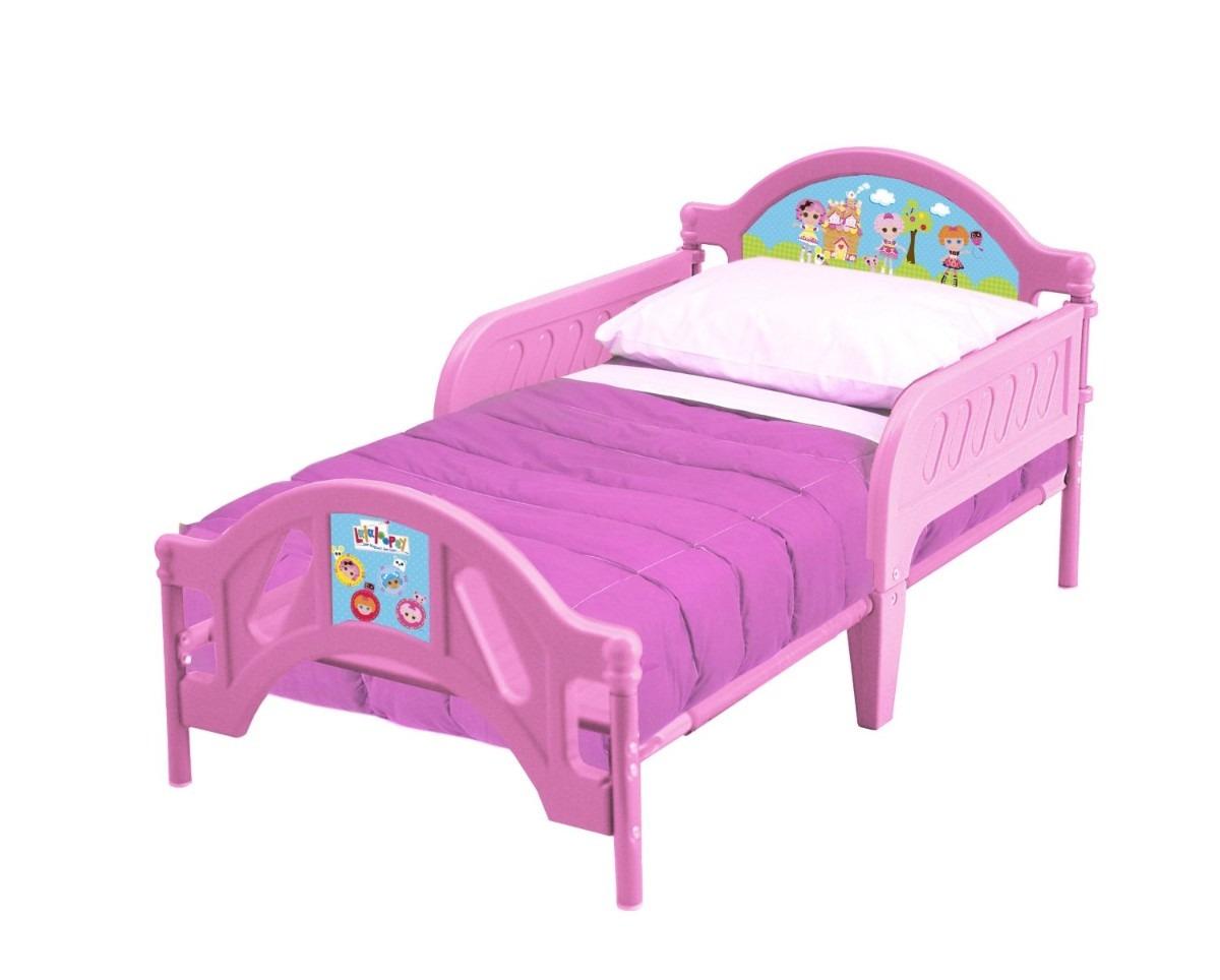Cama infantil lalaloopsy plastico rosa ni a camita mn4 for Cama infantil nina