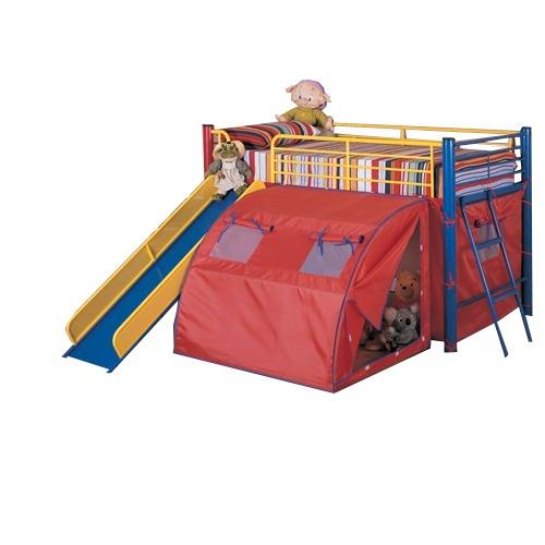 Cama infantil literas con toldo tienda de campa a pm0 for Camas en coppel