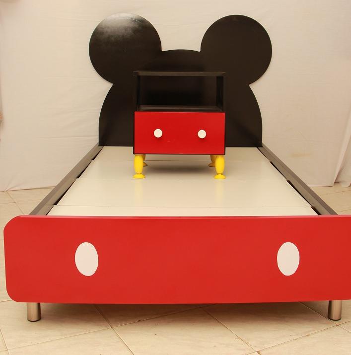 Cama infantil minnie y mickey mouse colchon individual bs en mercado libre - Camas individuales infantiles ...