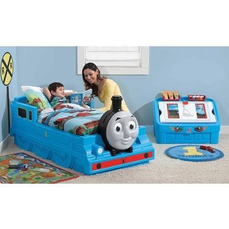 Cama infantil ni o thomas incluye juguetero colch n y - Camas tren para ninos ...