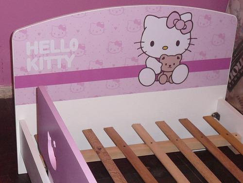 cama infantil para nenas, modelo kitty. directo de fábrica