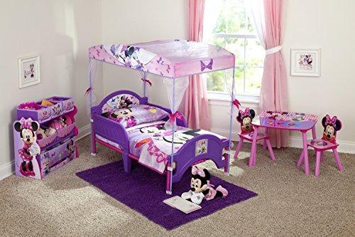 Cama Infantil Para Niños Con Dosel De Minnie Mouse De Delta