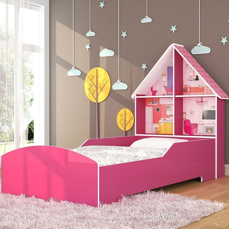 6741fea877 Cama Infantil Solteiro Menina Baby Casinha Especial Rosa - R  482