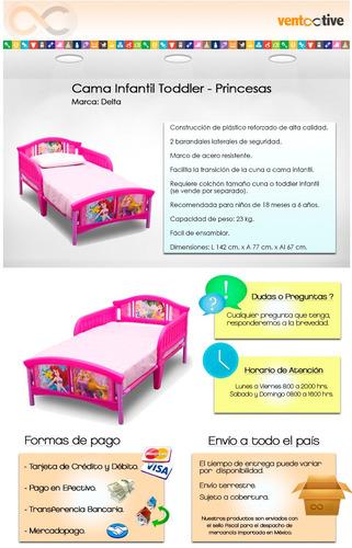 cama infantil toddler princesas delta