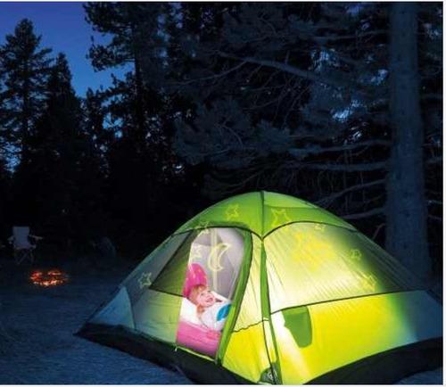 cama inflable con proyector de luces niños color rosado azul