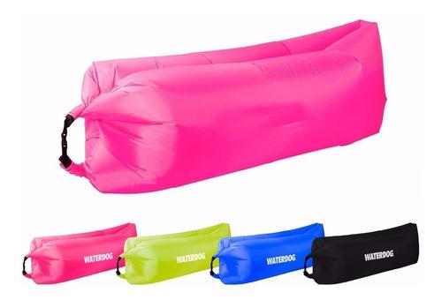 cama inflable waterdog briss bag tipo lazy bag