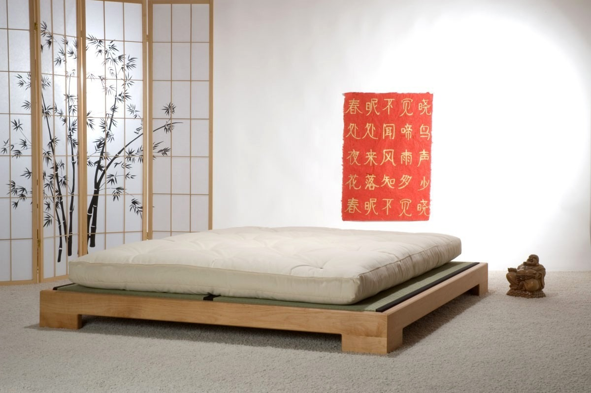 cama japonesa casal queen king size r em. Black Bedroom Furniture Sets. Home Design Ideas