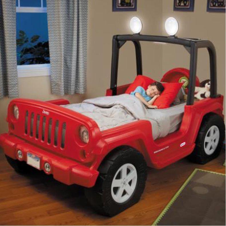 Cama Jeep Wrangler Little Tikes Nino Bebe Carro Camioneta