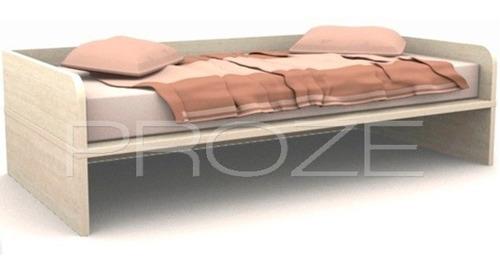 cama juvenil 1 plaza 1/2 super resistente  - la valenziana