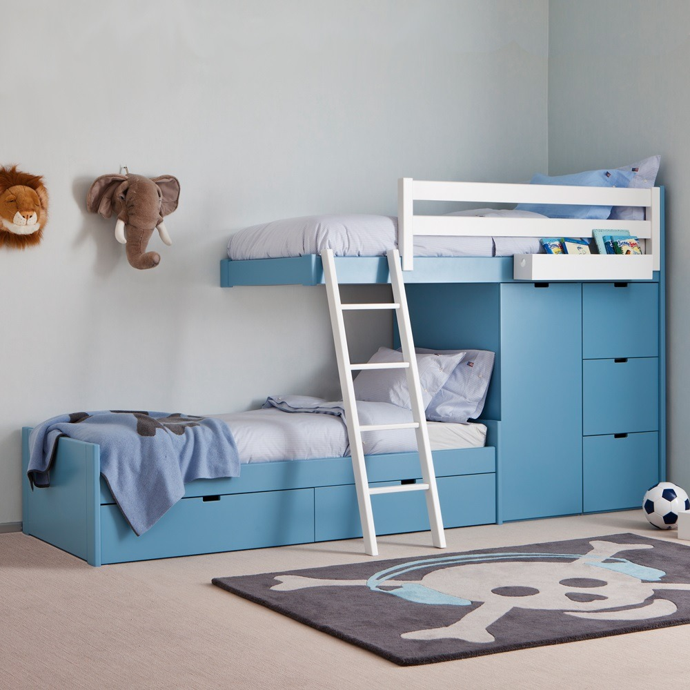 Cama juvenil con cajones good cama juvenil o infantil for Divan cama con cajones 1 plaza