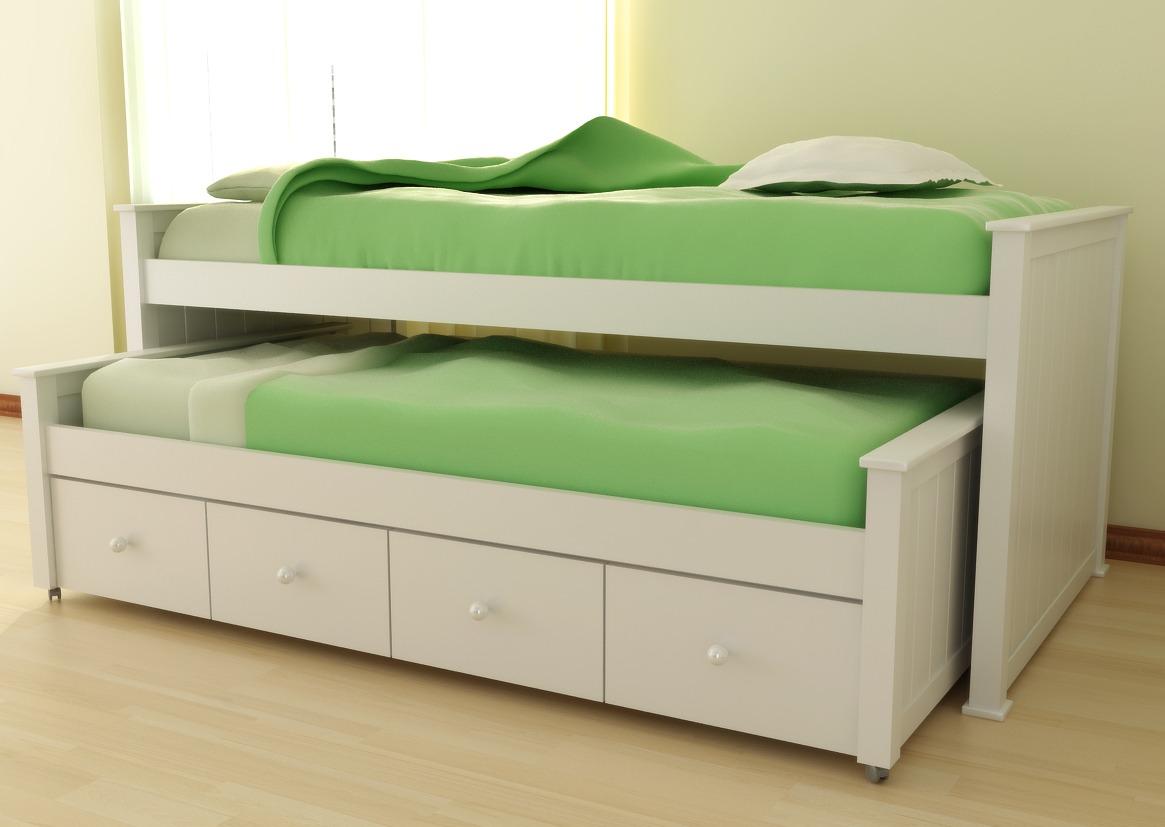 Cama con cajones abajo cama plaza y media natu cajones for Cama nido juvenil con cajones