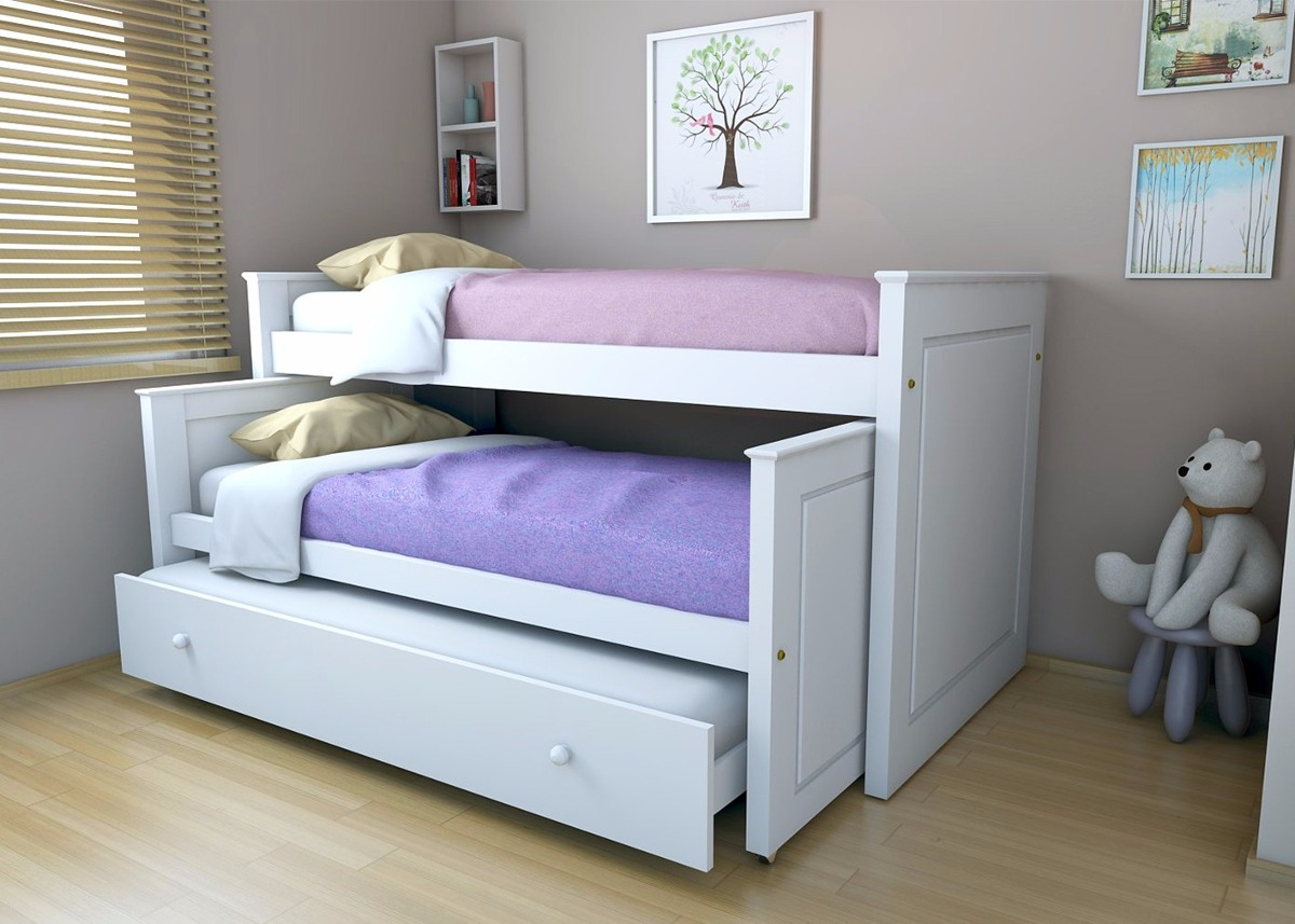 Cama infantil blanca encuentra este pin y muchos ms en camas infantil de cama puente infantil - Camas de nido ...