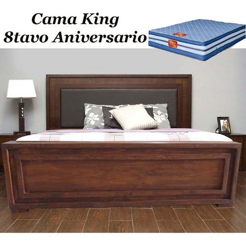 cama king con colchón 100kgs de peso por persona.nueva