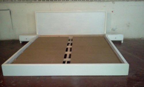 cama king size 2 x 2 color blanco