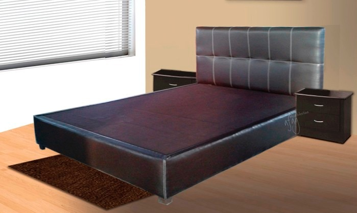 cama king size chocolate base y cabecera d rec mara