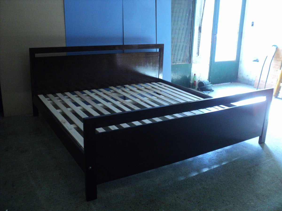 Cama King Size Colchon 2 X 2 Madera Maciza Serie A Muebles  # Muebles Camas King Size
