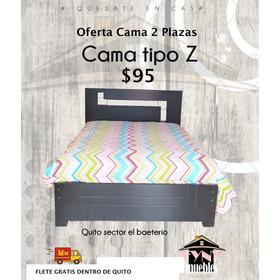 **cama Lineal En 2 Plazas**en Laurel Negro