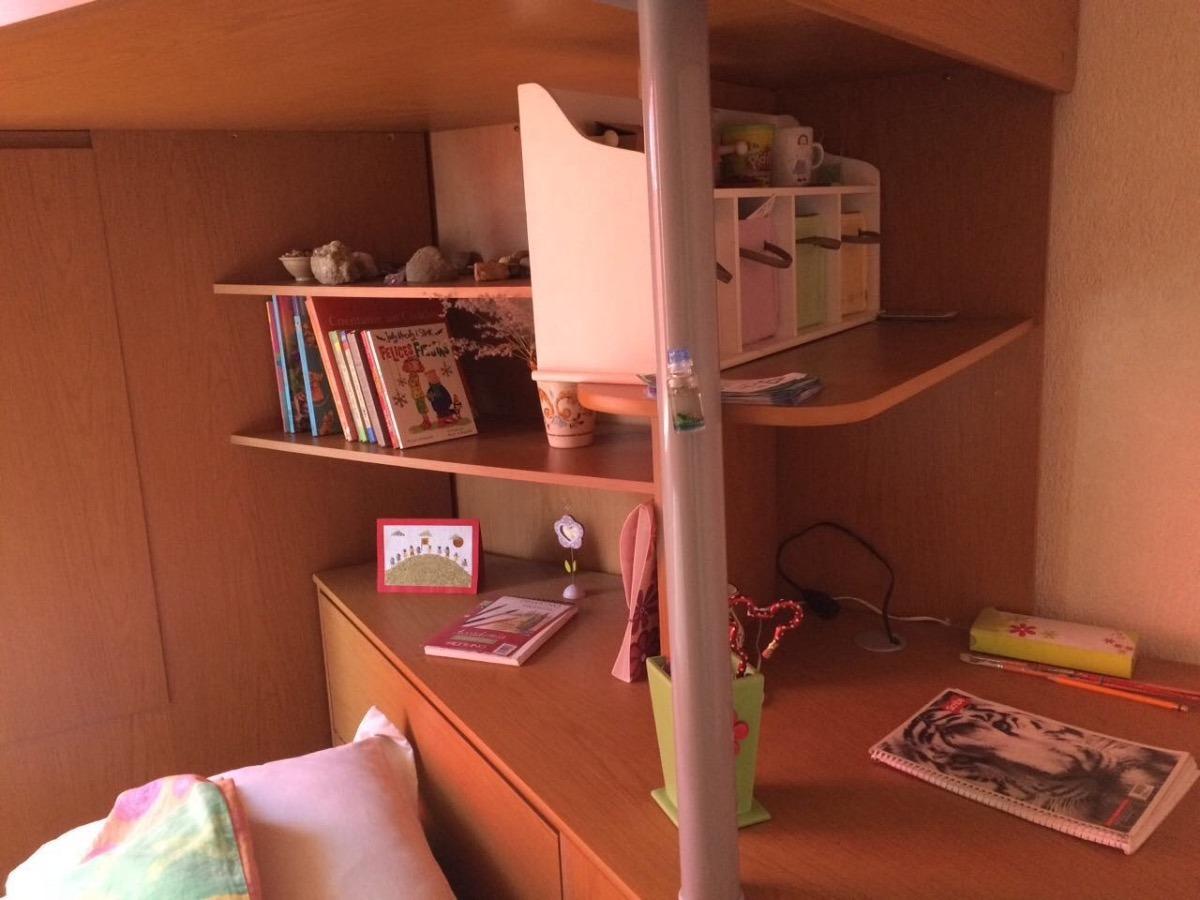 Litera con escritorio debajo cheap litera abatible con for Litera escritorio debajo