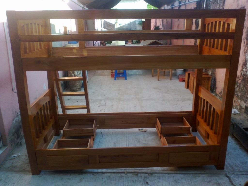 Cama litera desmontable en madera de cedro 7 for Cama litera