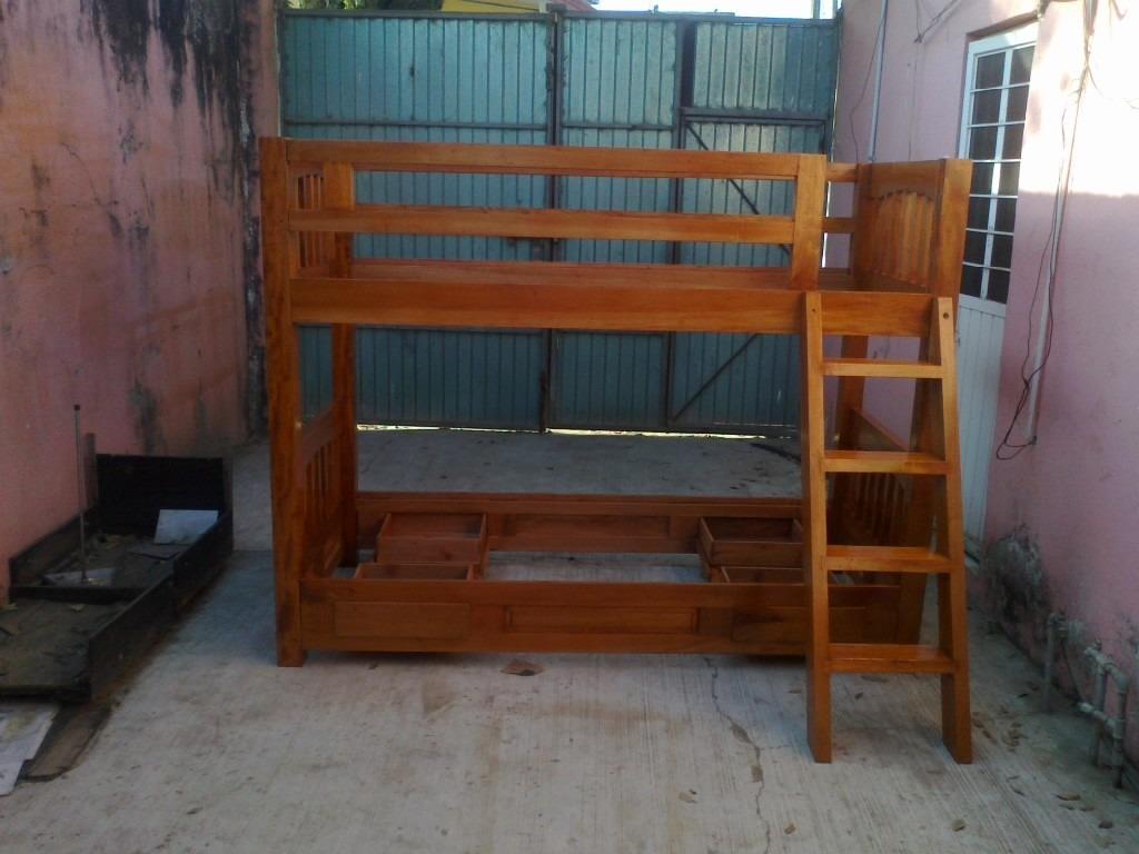 Cama litera desmontable en madera de cedro 7 for Camas de madera precios