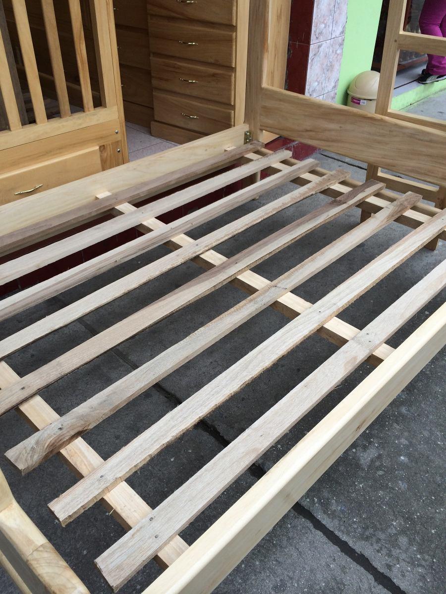 Cama litera madera de pino de 1 30 y 2 plazas new modelo for Cama 2 plazas madera